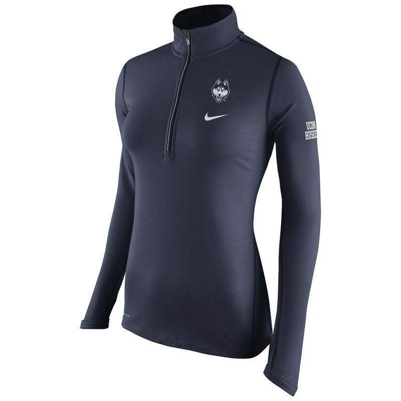 UConn Huskies Nike Women's Tailgate Element Performance Half-Zip Jacket -  Navy