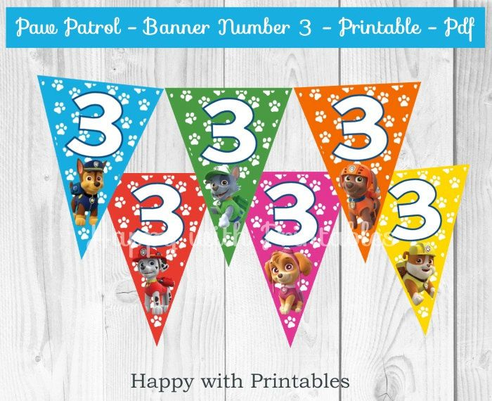 Paw patrol banner number 3