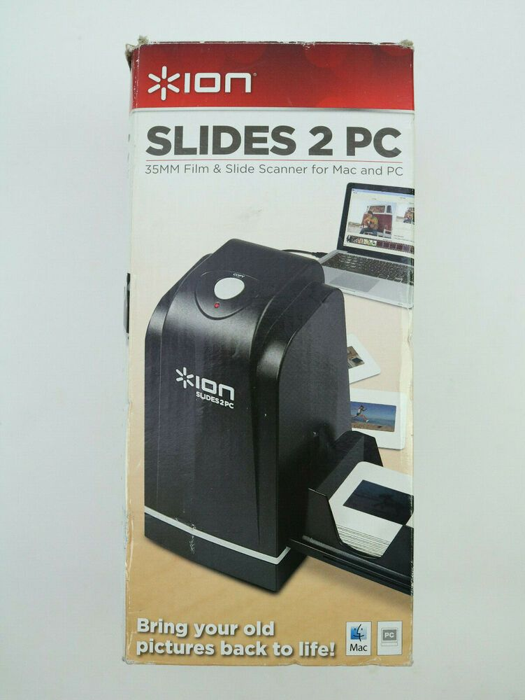 Ion Slides 2 PC 35mm Slide and Film Scanner USB #IONAudio