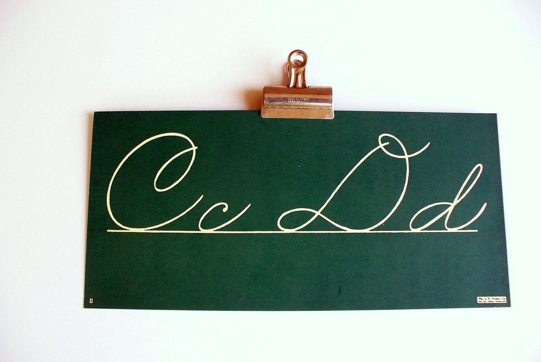 Vintage Chalkboard Alphabet Cards