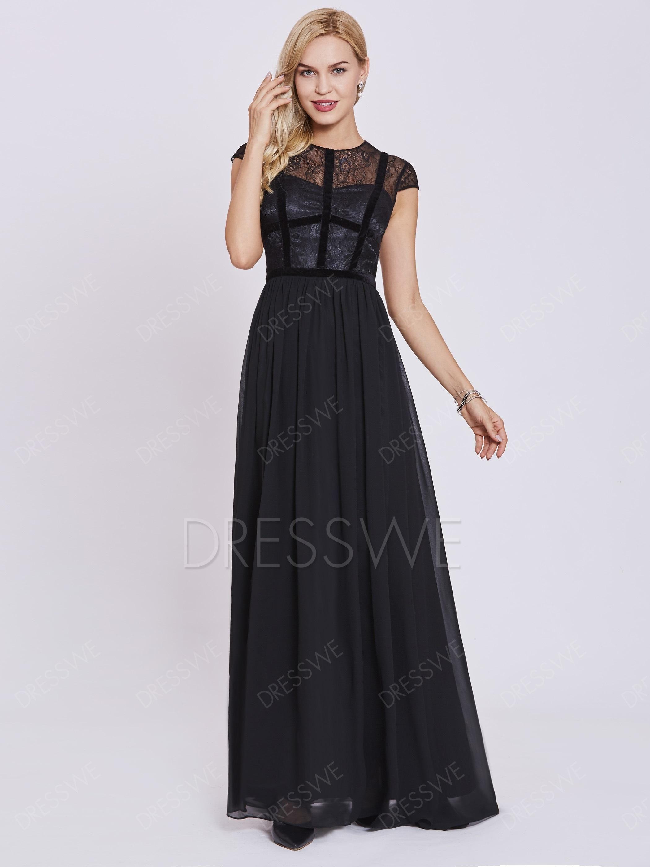 Dresswe dresswe scoop neck zipperup a line evening dress