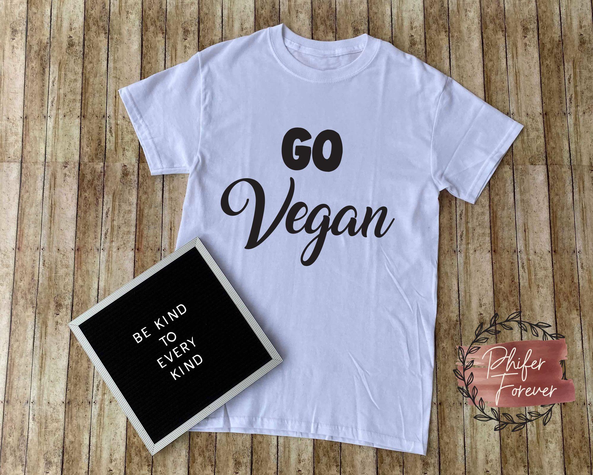 Go vegan tshirt vegan shirt plant based tee