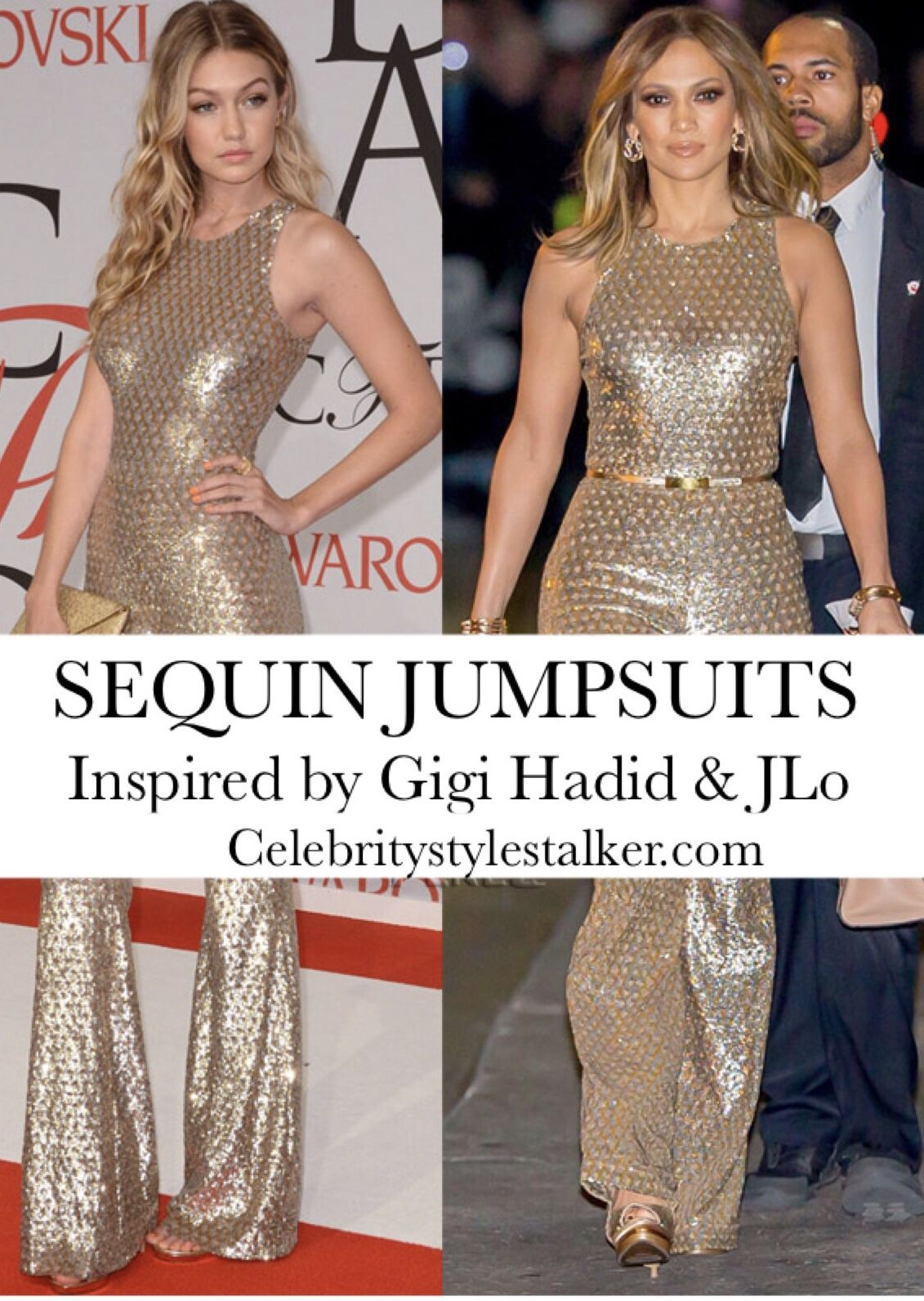 078a92b33b90 What to Wear NYE 2018  Sequin Jumpsuits Inspired by Gigi Hadid   Jennifer  Lopez – Celebrity Style Stalker  jlo  celebritystyle  celebrityfashion ...