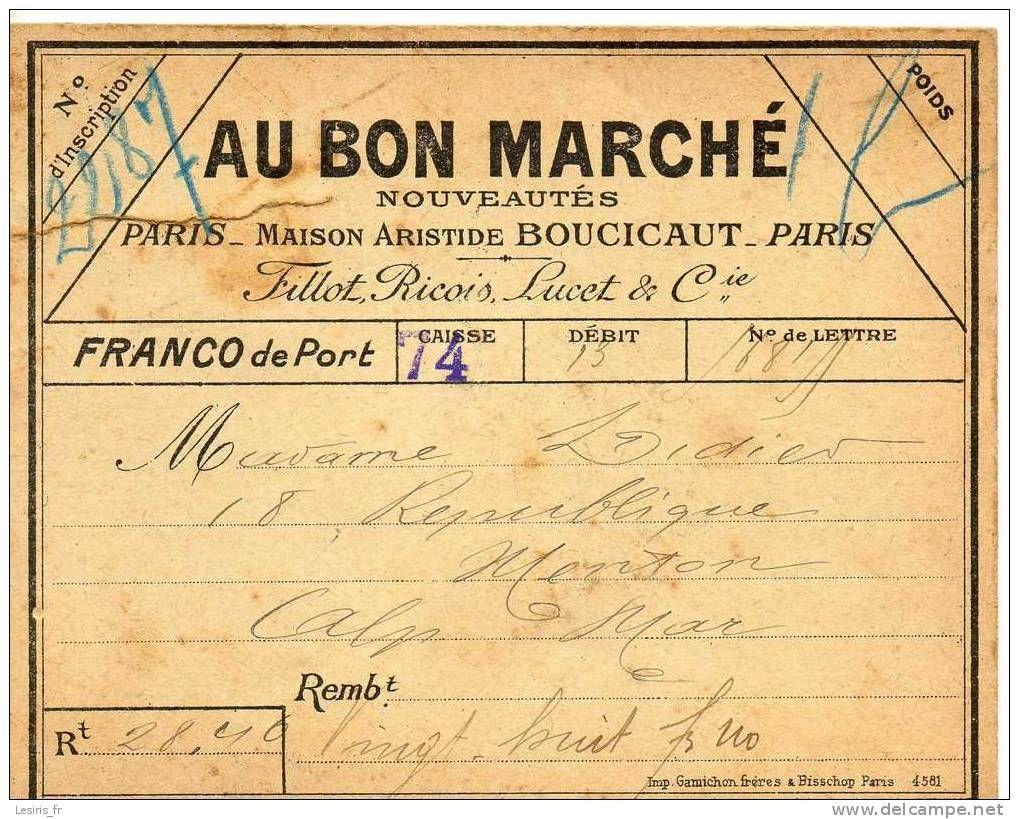 OLD AU BON MARCHE PARIS VINTAGE PERFUME
