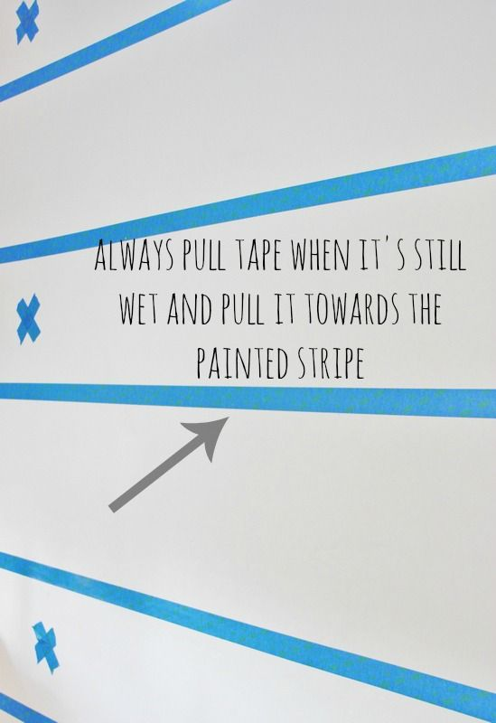 How to Paint Stripesinterestingpull tape before the paint dries