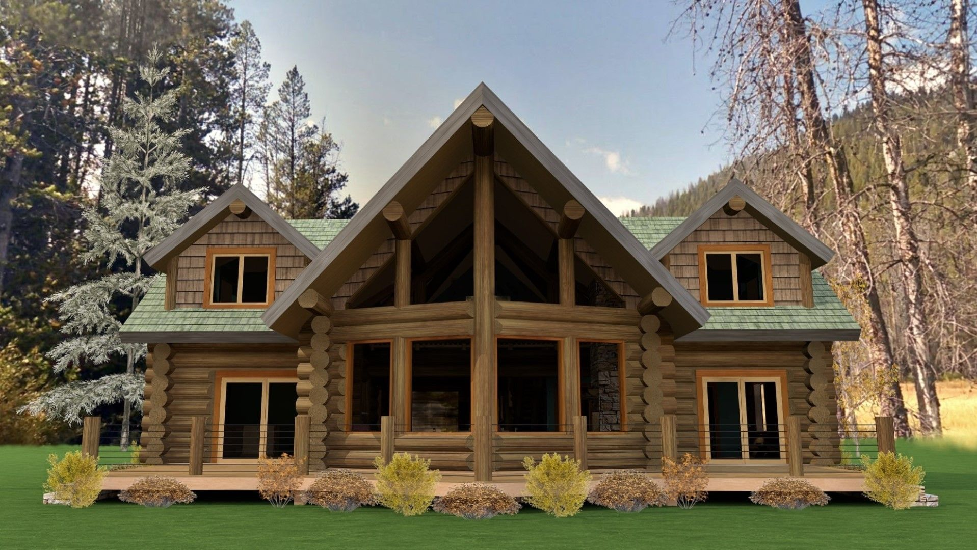 Today S Floorplan The Koocanusa One Of Our Most Popular Designs This Home Features An Open Loft Rustic House Plans Log Home Floor Plans Loft Floor Plans