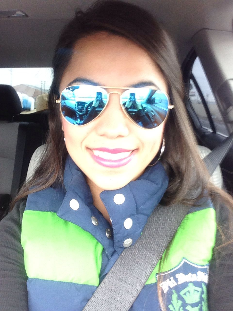 Rayban aviators and Victoria secret vest I got at the thrift store for 5 dollars!!SCORE