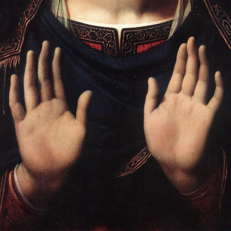 Jean-Auguste Dominique Ingres, The Virgin crowned, detail