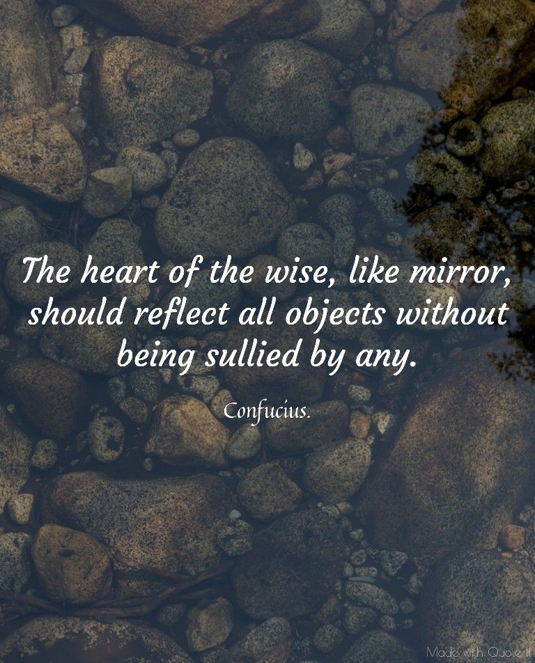 The Heart Of The Wise Like Mirror Should Reflect All Objects