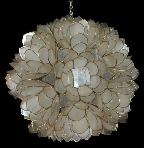 35 Years Ago, I Brought Home A Capiz Shell Chandelier From The Philippines.  We