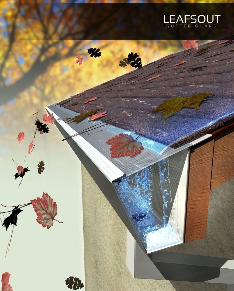 Gutter Screen Cover 23 Ft Effective 5 Guard System Durable Rain Roof Protection Gutterscreencover Ide Eksterior Dekorasi Rumah