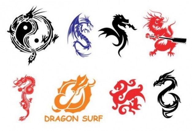 Freepik Graphic Resources For Everyone Chinese Dragon Symbol Black Dragon Tattoo Dragon Icon