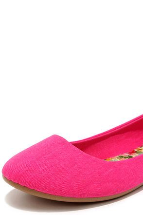 03bfe165647e Fox and the Round Hot Pink Ballet Flats