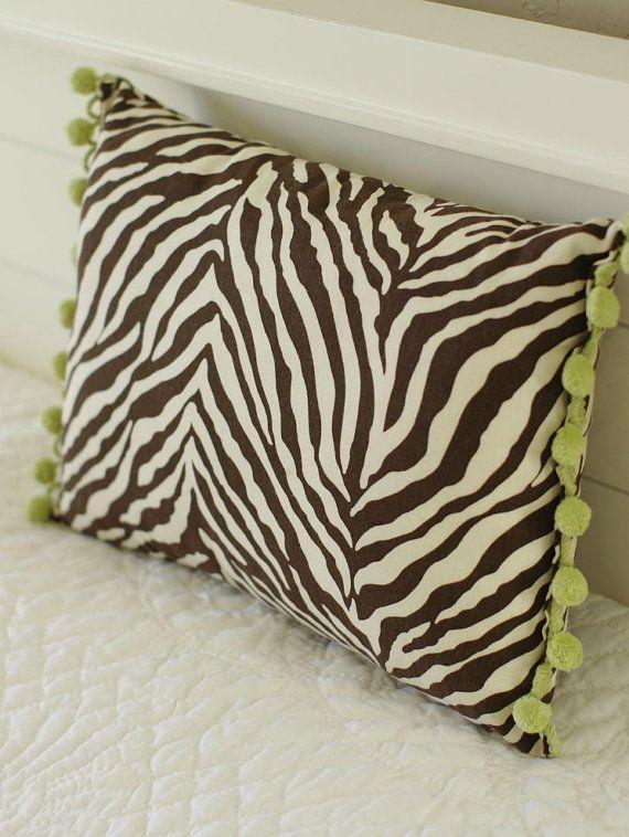 Zebra Print Pillow 12x16 by larksongcreations on Etsy, $19 ...