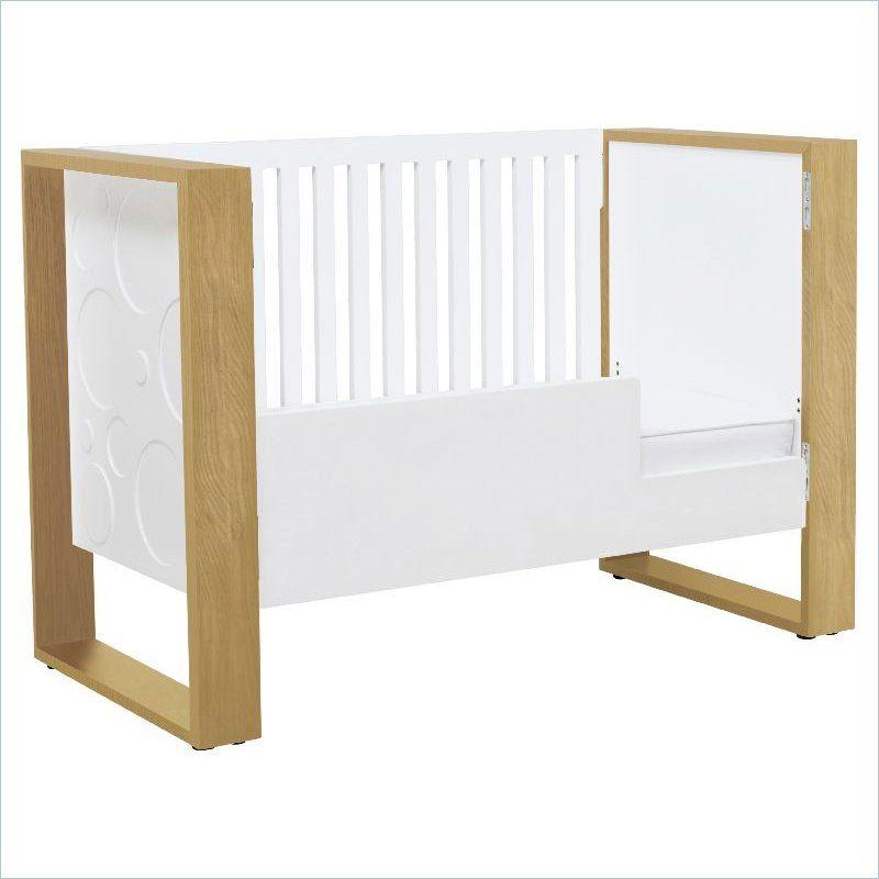 Nurseryworks Aerial 3-in-1 Crib in Snow with Light Frame