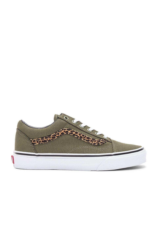 vans old skool leopard mujer