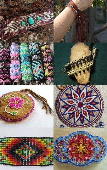Native American Inspired Bead Art by Nancy and Bruce on Etsy--Pinned with TreasuryPin.com