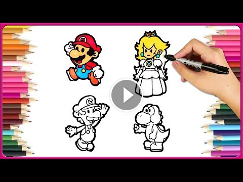 How To Draw Mario How To Draw Paper Mario Luigi Draw Drawing How