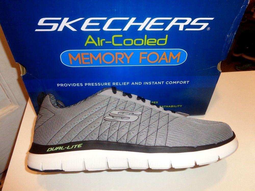 Etapa Saludo Oficial  NEW Skechers Flex Advantage 2.0 The Happs Light Gray/Black Sneakers Size 13  W | Black sneakers, Sneakers, Skechers