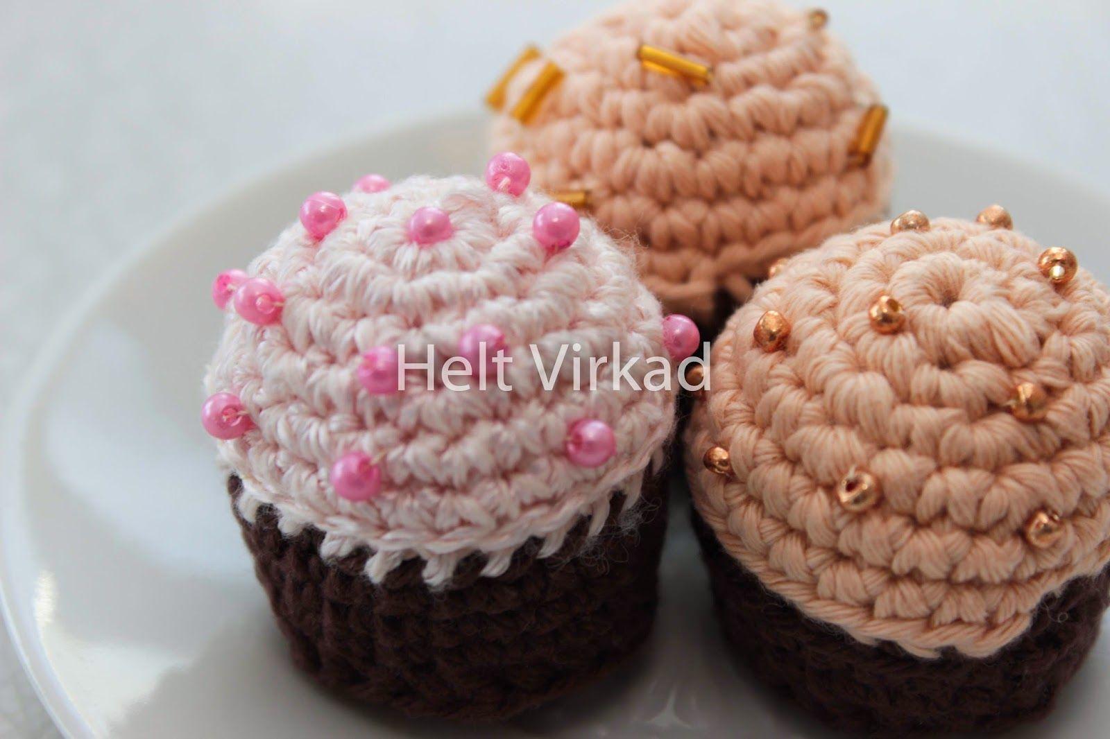 Mini cupcakes. Pattern in swedish.