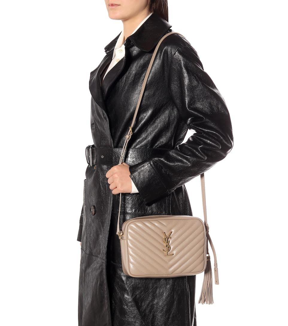 Lou Camera Leather Crossbody Bag Beige Sponsored Leather
