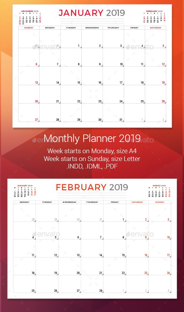 Pin by FDesign Nerd on Calendar Template Pinterest Monthly