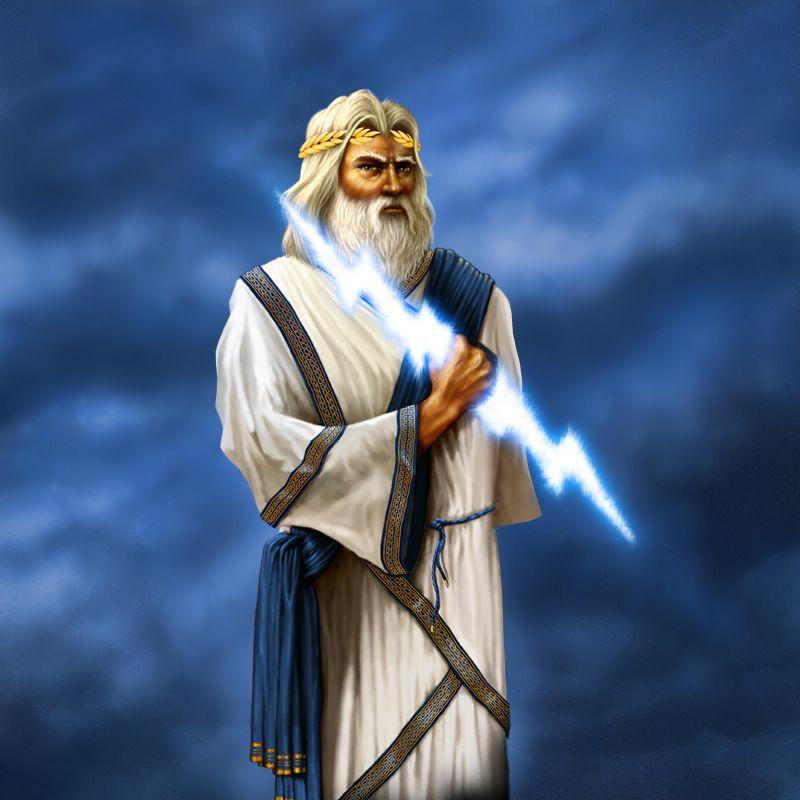 Grepolis Artwork von Zeus mit Blitz