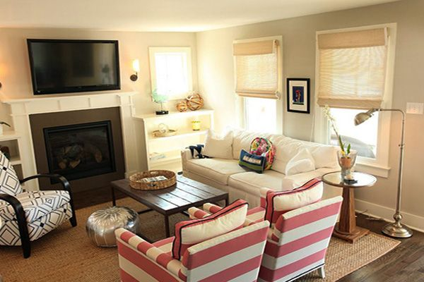 Small Living Space Decoration Ideas Rectangular Living Rooms