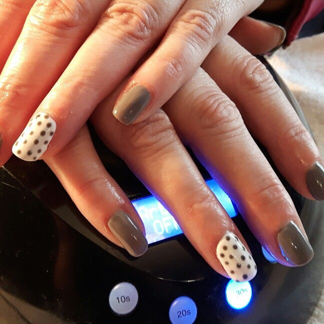 Lovely nails with polka dots for a fav client today. Created using ...