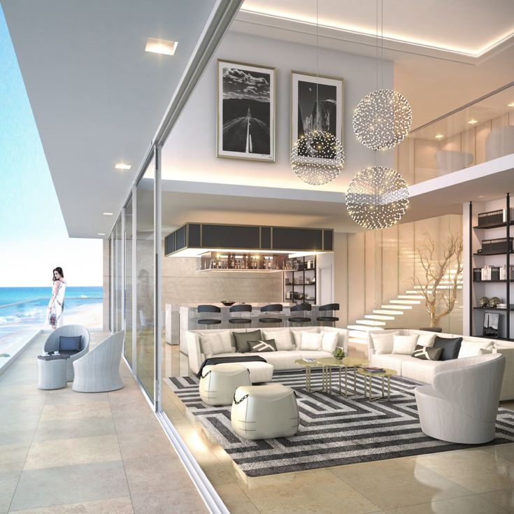 Penthouse Design Modern Penthouse Double Volume Living Room