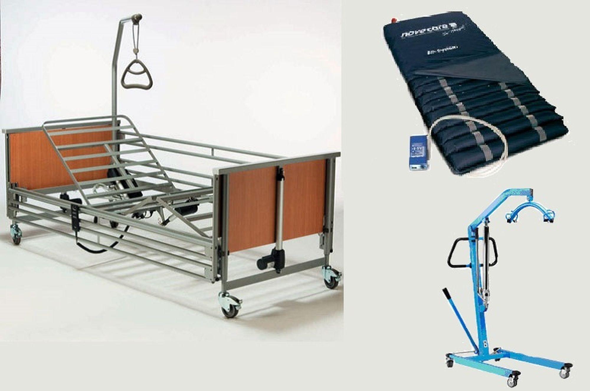 Hospital Bed Ripple Mattress Hydraulic Hoist 140kg Hospital Bed Hoist Mattress