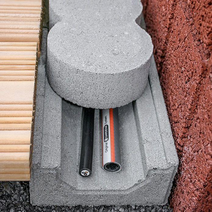 Kabelkanalstein (20 x 12,2 x 5,9 cm, Beton) #kräutergartenbalkon