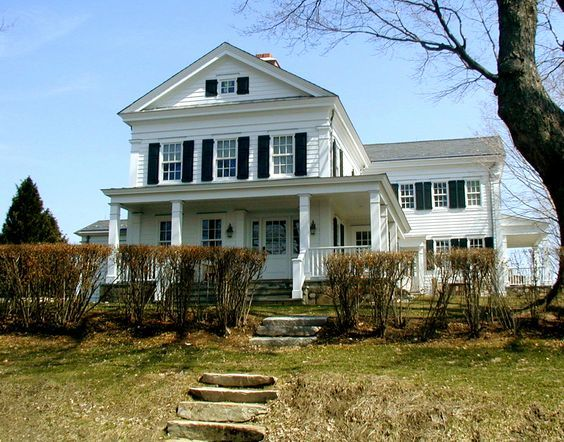 Greek Revival house | Farmhouse exterior, Exterior design ...