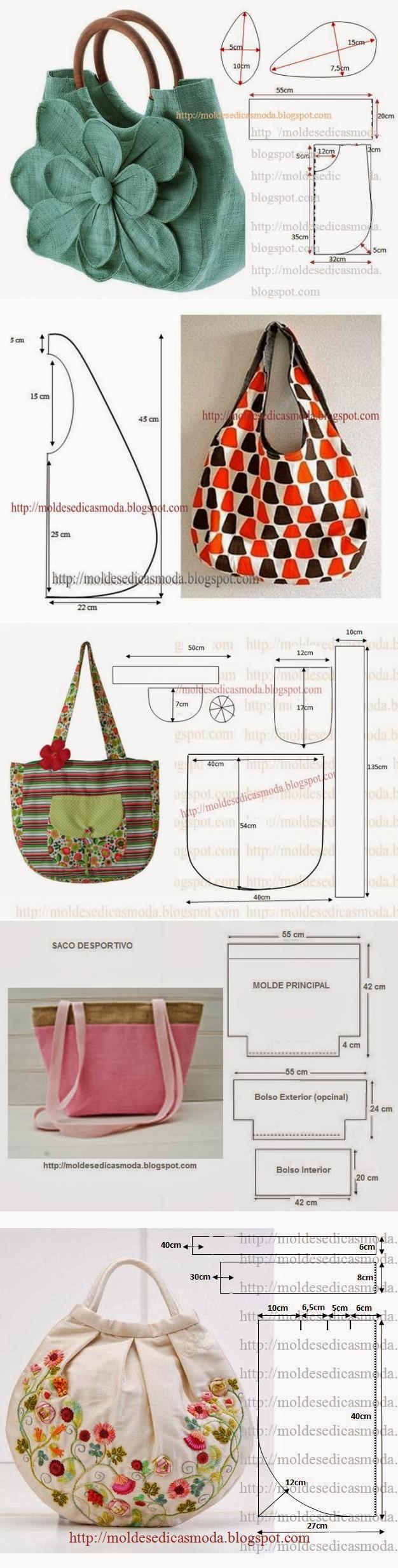 otkroysunduk.ru | Bolsa | Pinterest | Patrones, Costura y Bolso tejido