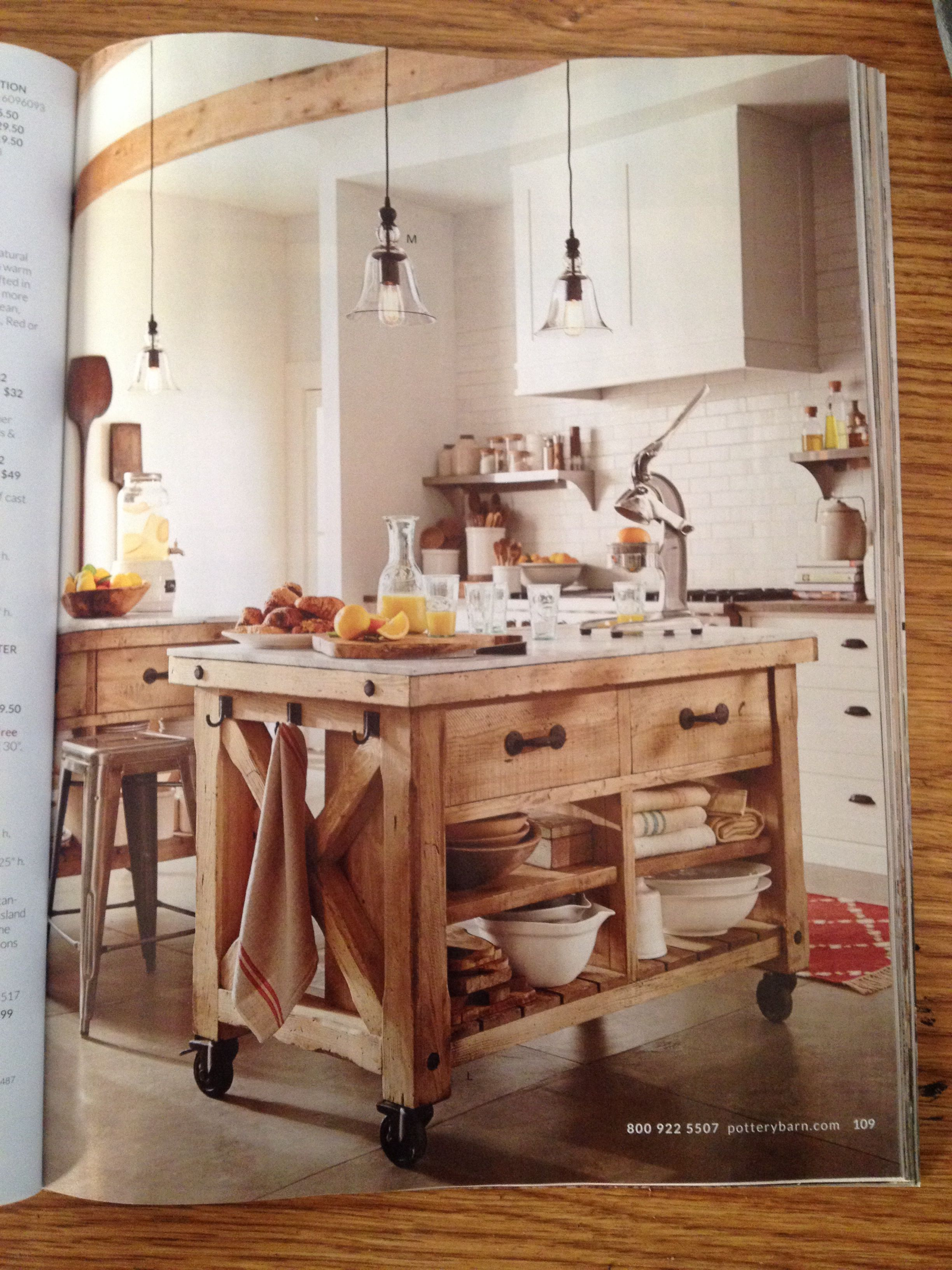 Pottery barn kitchen island home ideas pinterest for Barn kitchen ideas