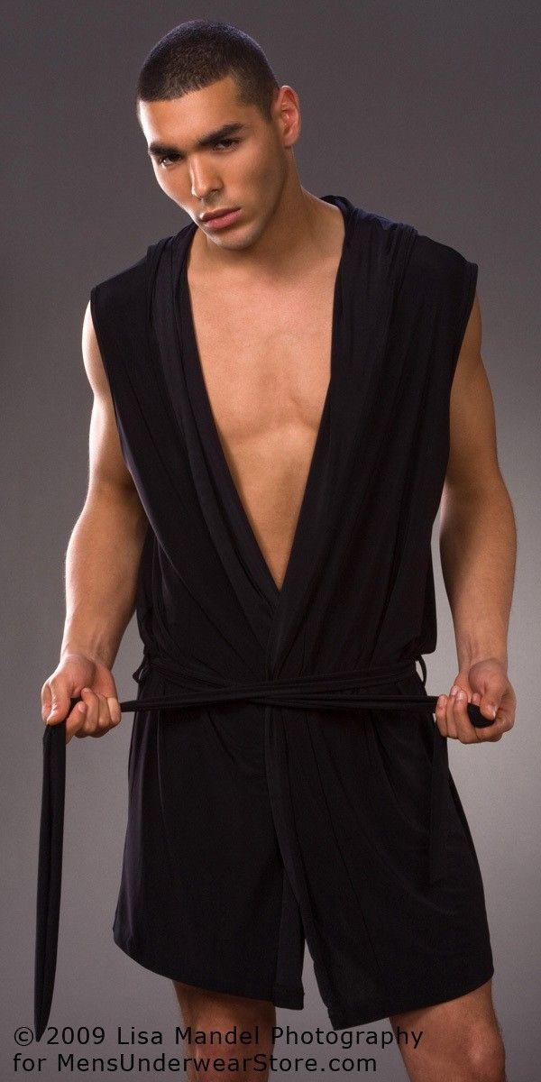 Gay Silk Bathrobe Men Black Bathrobes For Men Sleepwear Kimono Men 2017 New d28700989