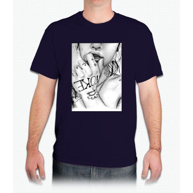 Kehlani tsunami mob pencil drawing / art - Mens T-Shirt