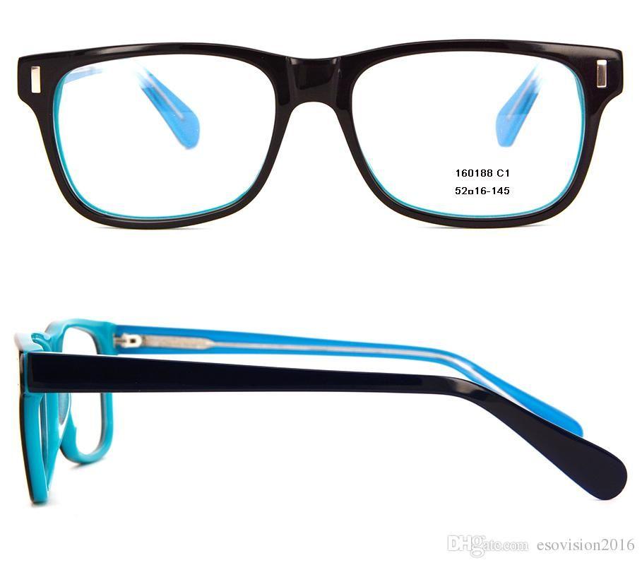 2c816fe344 New Arrival 2017 Fashion Women Men Eyeglasses Frames Designer Eyeglass Frame  Full Rim Acetate Optical Frame Spectacles Frame With Clear Lens Flexible ...