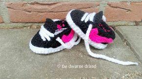 Haakpatroon Nike Schoenen Baby Haken Pinterest Crochet