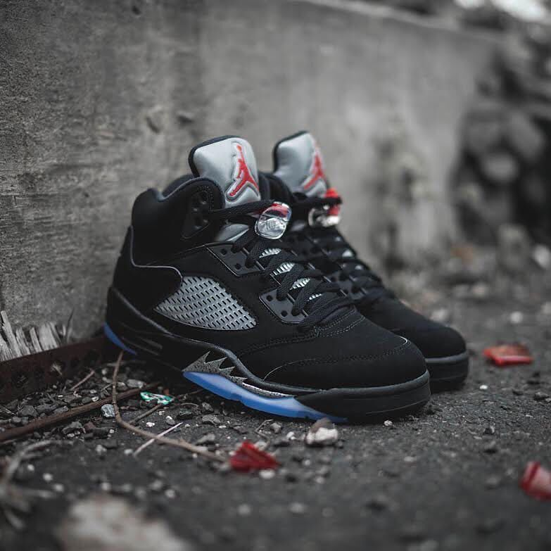01fba5f0 NEW ARRIVALS: Nike Air Jordan 5 OG Black Metallic Silver is in stock in  men's & youth sizes at kickbackzny.com.