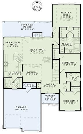 Plan 8168 3 Bedroom 2 Bath House Plan With 2 Car Garage Narrow