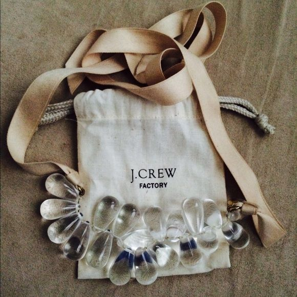 Jcrew factory ribbon necklace Beige ribbon necklace. J. Crew Jewelry Necklaces