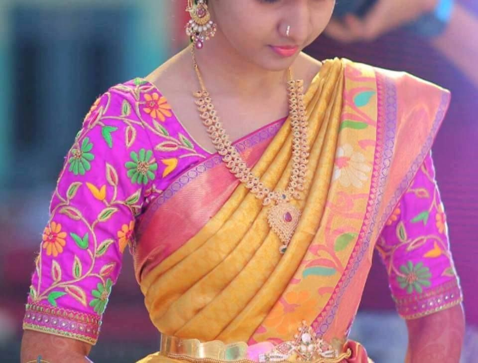 Pink Thread work Blouse - Saree Blouse Patterns | Sarees ...