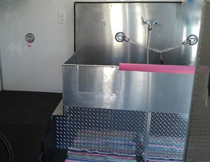 Custom Made Stainless Steel Dog Grooming Tub Line Ex Flooring