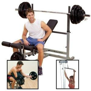 body solid gdib46lp4 powercenter combo package home gym
