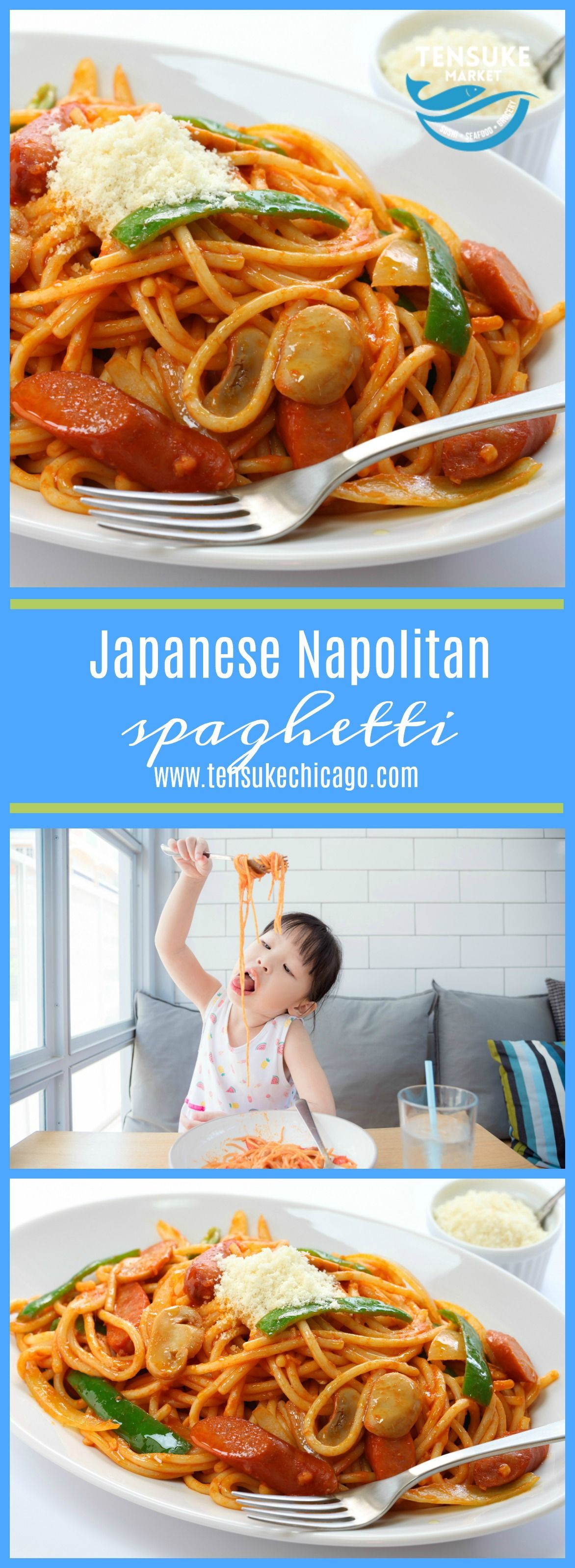 Japanese Napolitan Spaghetti #japanesefood #spaghetti #chicagofood #japanesemarket