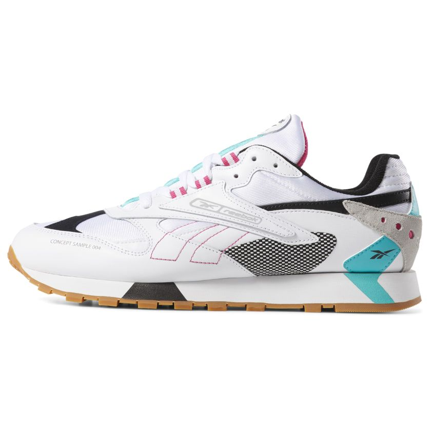 c45f9abdde53f 2019 的 Reebok Shoes Unisex Classic Leather ATI 90s in White Teal ...