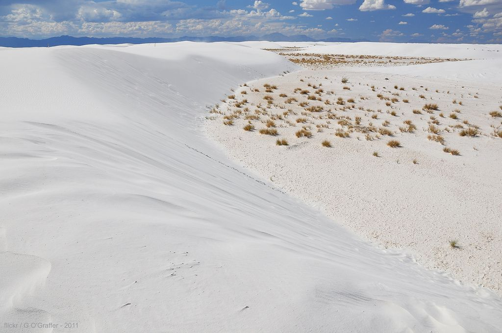 """https://flic.kr/p/aa9jh7   White Sands National Monument - New Mexico   New Mexico is known as the """"Land of Enchantment"""" and one of the state's most enchanting places is White Sands.  Extending across approximately 275 square miles of the Tularosa Basin, it's the largest gypsum dune field in the world.  About 40% of the field is within White Sands National Monument; the remainder is mostly under the supervision of the US Army's White Sands Missile Range.  This image was taken near the head…"""
