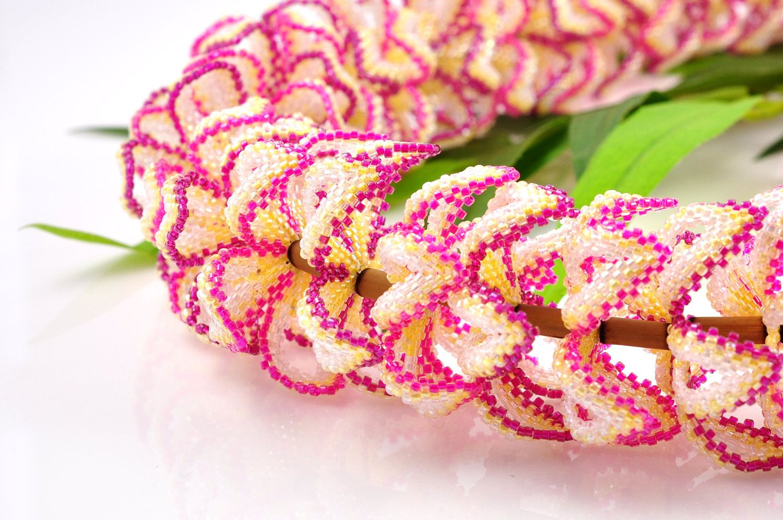 Beaded plumeria lei hawaiian plumeria lei beaded flower lei beaded plumeria lei hawaiian plumeria lei beaded flower lei hawaiian destination wedding izmirmasajfo Image collections