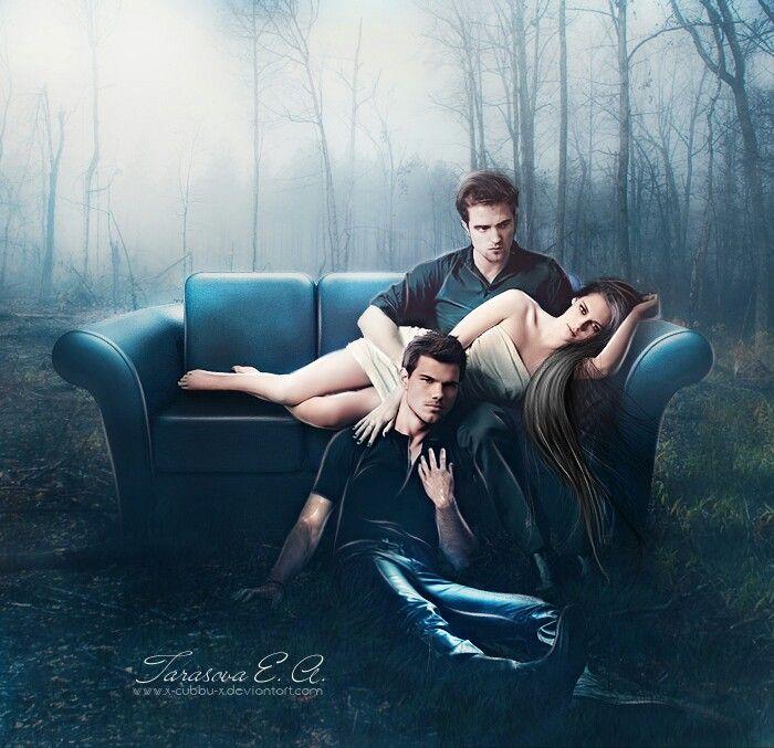 Twilight Saga Featuring Edward Bella And Jacob Com Imagens